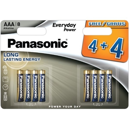 Picture of PANASONIC SILVER AAA 4+4 X 12