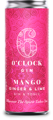 Picture of 6 O'CLOCK GIN MANGO GINGER LIME & TONIC 250ML X 12