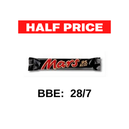 Picture of MARS STICK 21g  ONLY 95 KCAL x 32   HALF PRICE