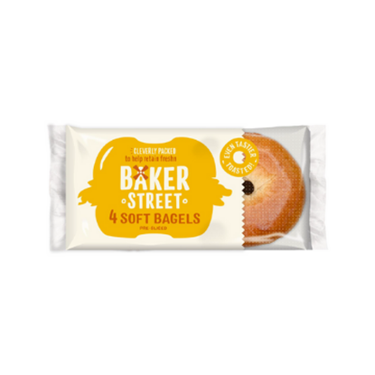 Picture of BAKER STREET 4 SOFT BAGELS x 9