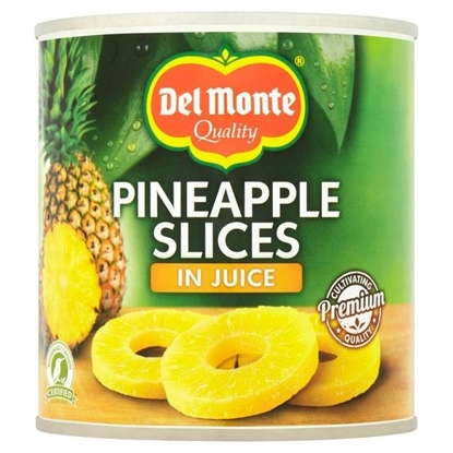 Picture of DEL MONTE PINEAPPLE SLICES IN JUICE  435G  x 12