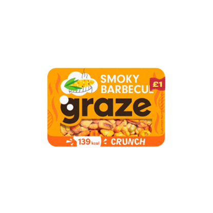 Picture of PM £1 GRAZE SMOKY BBQ CRUNCH PUNNET 31g x 9