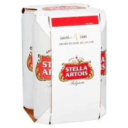 Picture of PM £6.59 STELLA PINT CAN 4PK X 6