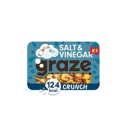 Picture of PM £1 GRAZE SALT & VINEGAR CRUNCH PUNNET 28g x 9