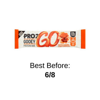 Picture of PRO 2GO GOOEY PROTEIN SALTED CARAMEL BAR 60G X 12