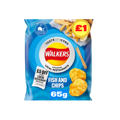 Picture of PM £1 WALKERS FISH & CHIPS LTD EDITION 65G X 15