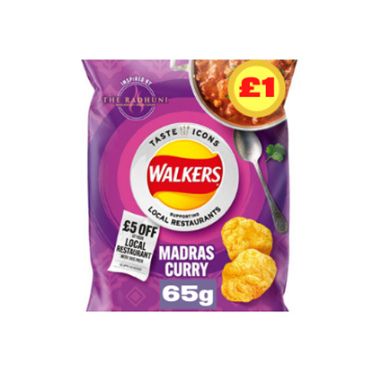 Picture of PM £1 WALKERS MADRAS LTD EDITION 65G X 15