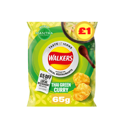 Picture of PM £1 WALKERS THAI GREEN CURRY LTD EDITION 65G X15
