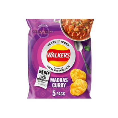 Picture of WALKERS MADRAS LTD EDITION 25g 5pk x 18