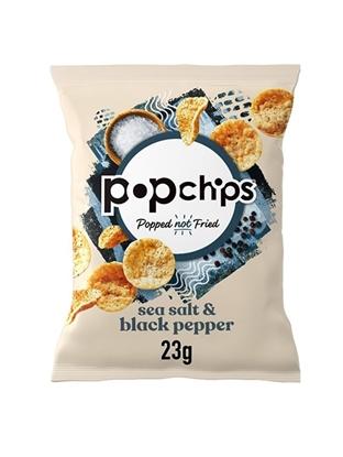 Picture of POPCHIPS SEA SALT & BLACK PEPPER CRISPS 23g x 24