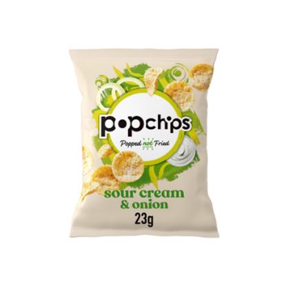 Picture of POPCHIPS SOUR CREAM & ONION CRISPS 23g x 24