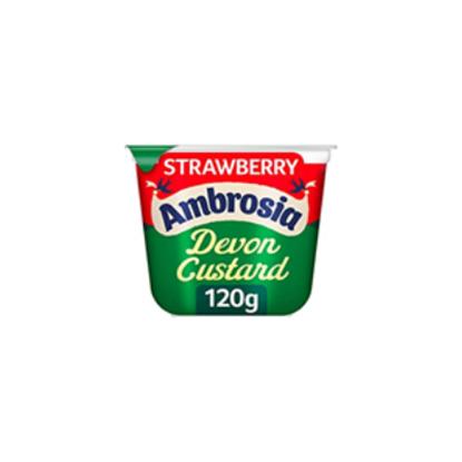Picture of AMBROSIA CUSTARD POT STRAWBERRY 120g x 12
