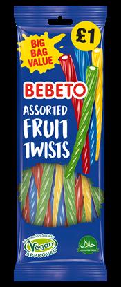 Picture of PM £1 BEBETO ASST FRUIT TWISTS 200g x12