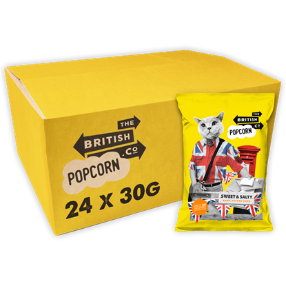 Picture of BRITISH POPCORN COMPANY SWEET & SALTY 30G X 24